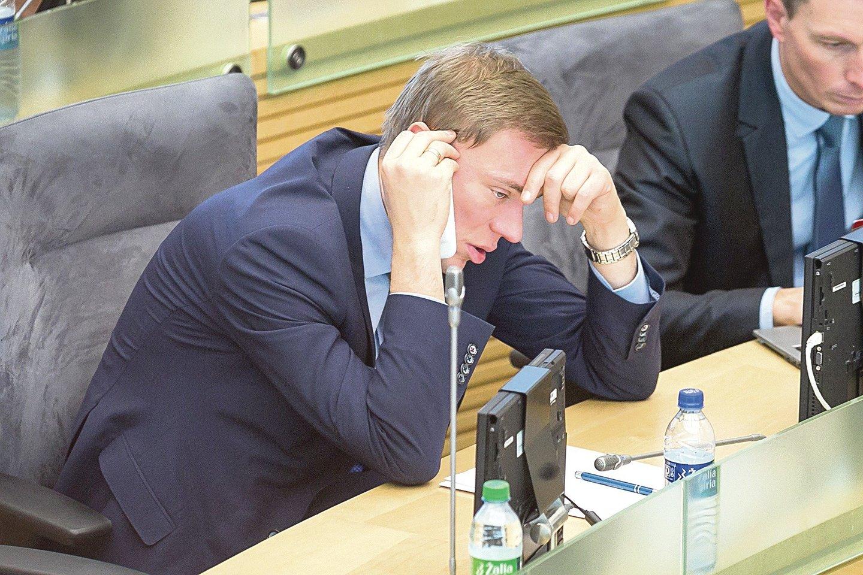 Parlamentaras M.Puidokas pasiryžęs ginti jo rengtas įstatymo pataisas.<br>T.Bauro nuotr.