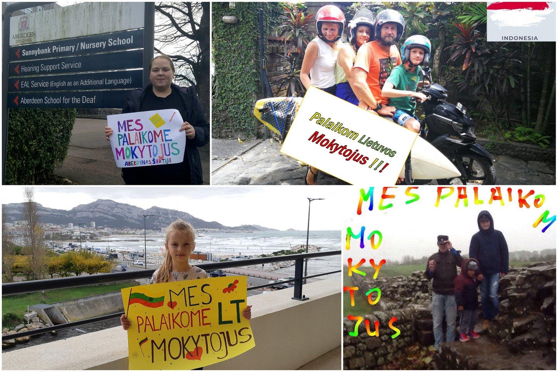 Streikuojantiems mokytojams – jautrios žinutės iš emigrantų, valdžiai – raginimas atsibusti.