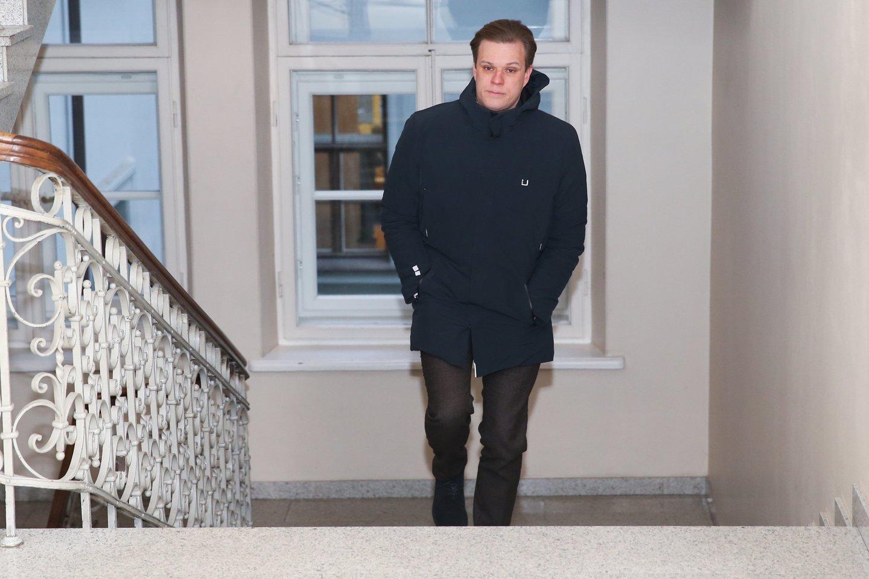 G.Landsbergis atvyko į apklausą.<br>R.Danisevičiaus nuotr.