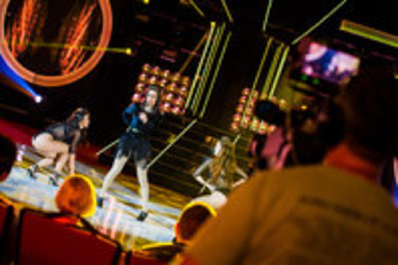 Justinas Lapatinskas tapo Inga Valinskiene, o Jurgis Brūzga – Beyonce: kuriam pavyko labiau?<br>D.Beržinio nuotr.