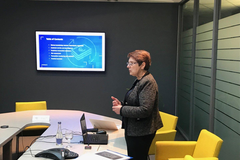 B. Žalalienės teigimu, didesnį dėmesį pinigų plovimo prevencijai taip pat lemia ir inovacijos finansinių technologijų srityje.<br>Organizatorių nuotr.