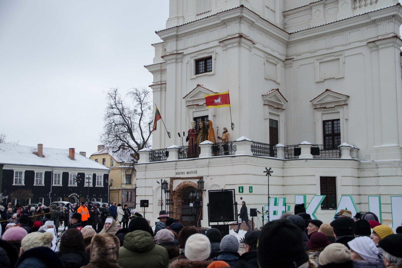 Kauniečius pasveikino Trys Karaliai.<br>M.Balčiūno nuotr.