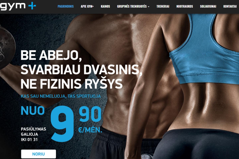 """Ši reklama susilaukė daug dėmesio.<br>""""Gym plius"""" nuotr."""