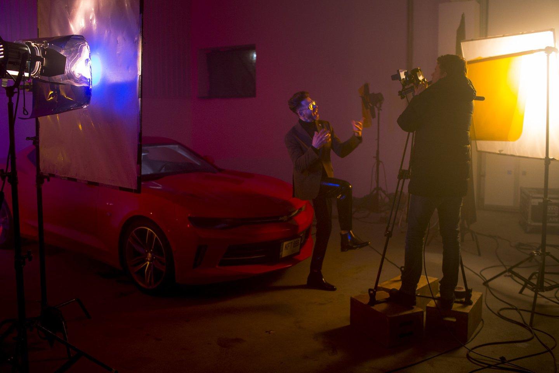 Klipo filmavimo akimirka.<br>R.Daskevičiaus nuotr.