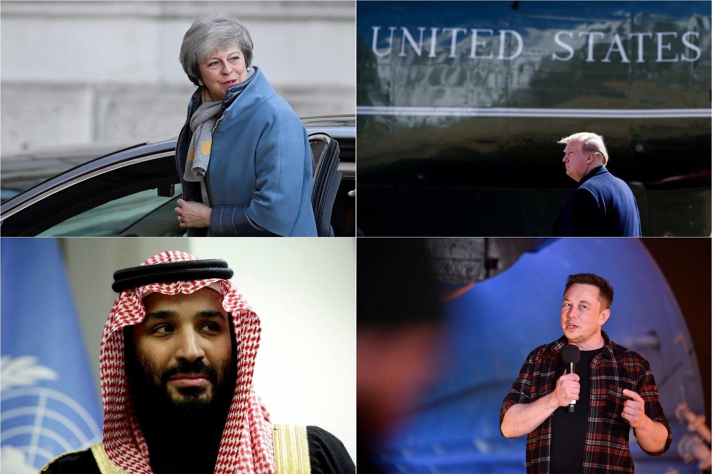 Sudėliotas dešimties politikų ir verslininkų, kurie 2018 m. išklibino pasaulinę ekonomiką, sąrašas.<br>Lrytas.lt fotomontažas