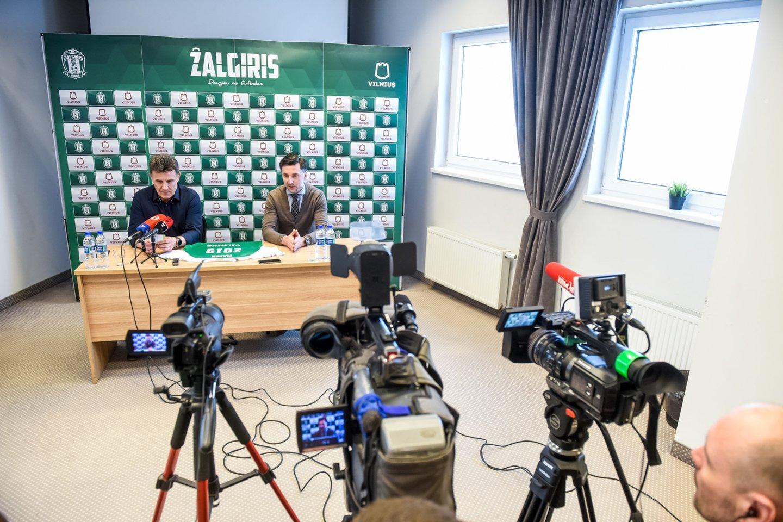 Trečiadienį buvo pristatytas naujas sostinės komandos treneris M.Zubas.<br>D.Umbraso nuotr.