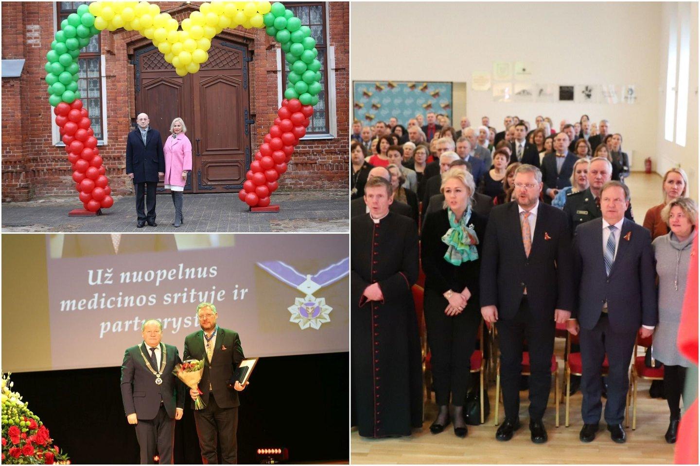 Valstybės atkūrimo dienos išvakarėse Raudondvaryje įvyko iškilmingas Kauno rajonui nusipelniusių žmonių pagerbimo renginys.<br>Lrytas.lt koliažas.