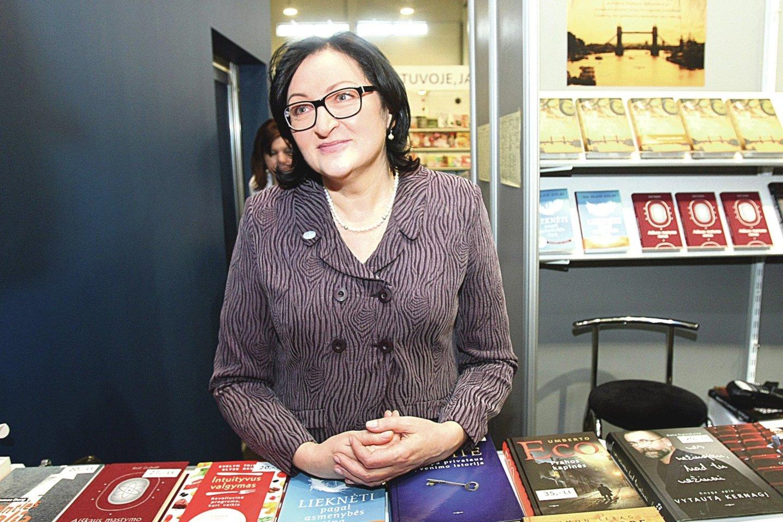 L.Varanavičienė prieš 20 metų buvo prie Vilniaus knygų mugės ištakų.<br>R.Danisevičiaus nuotr.