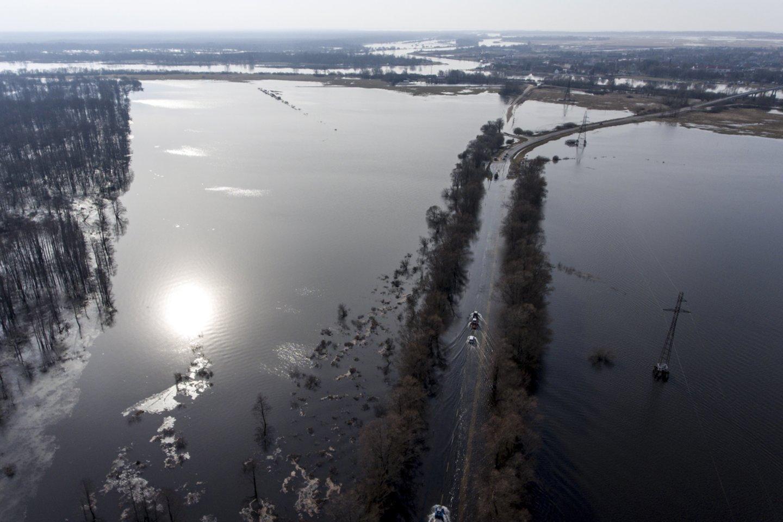 Potvynis Pamaryje.<br>V.Ščiavinsko nuotr.