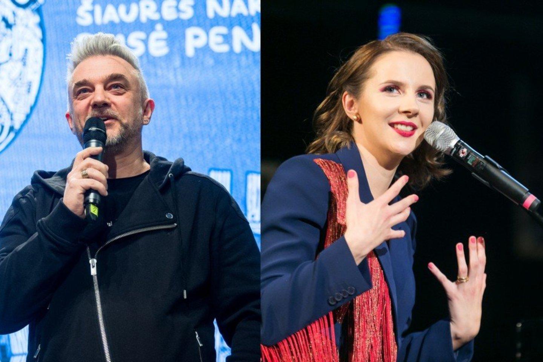 A.Mamontovas ir I.Narkutė.<br>T.Bauro ir J.Stacevičiaus nuotr.
