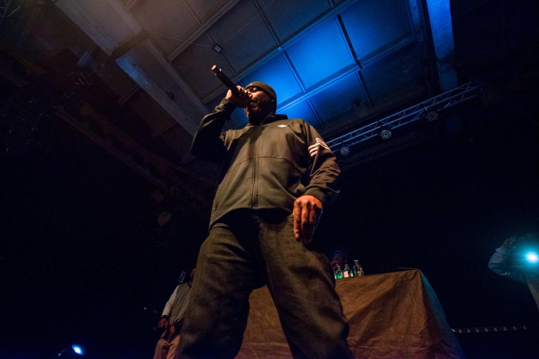 """""""Wu-Tang Clan"""" nario GZA pasirodymo akimirka.<br>J.Stacevičiaus nuotr."""