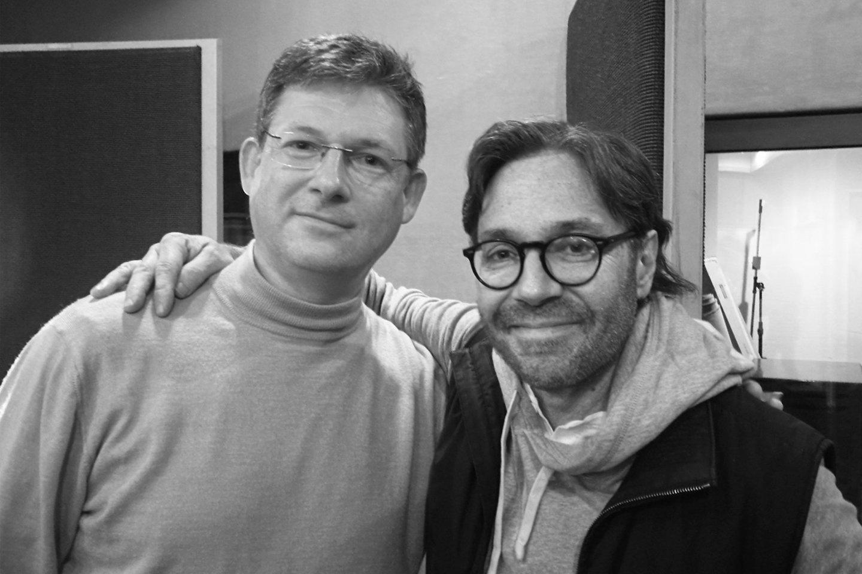 E.Buožis (kairėje) su A.Di Meola.<br>Nuotr. iš asmeninio albumo.