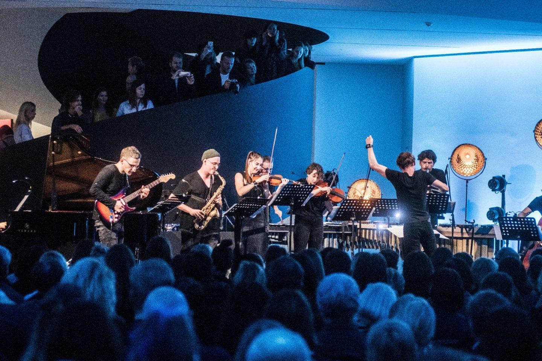 """Šiuolaikinės muzikos ansamblis """"Synaesthesis"""" pristato projektą ATOMIC B.<br>D.Matvejevo nuotr."""