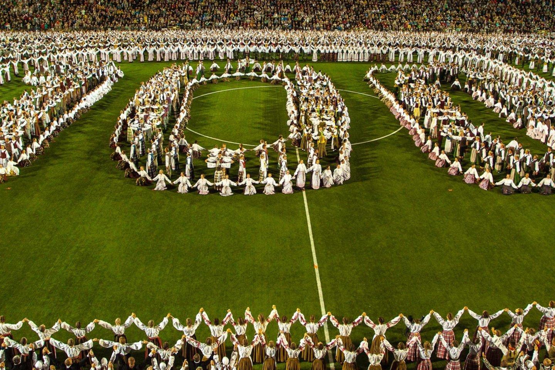 Kas ketverius metus rengiama Dainų šventė įtraukta į UNESCO Reprezentatyvųjį žmonijos nematerialaus kultūros paveldo sąrašą.<br>LNKC nuotr.