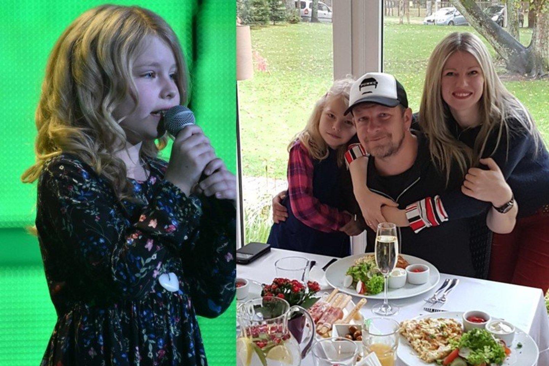 Makso ir Evos Melmanų dukra Amelie sulaukė daug komplimentų Vokietijos TV studijoje.<br>A.Kowalskio ir asmeninio albumo nuotr.