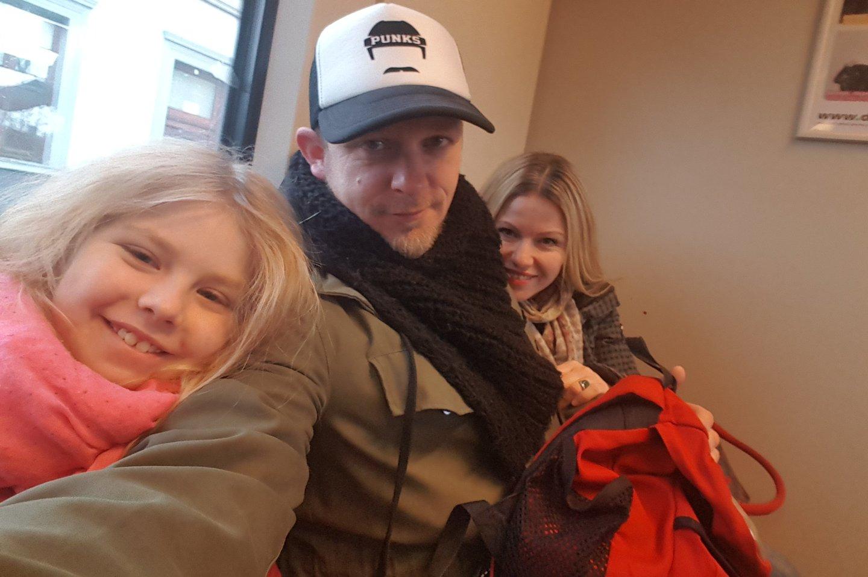 M.Melmano žmona Eva ir dukra Amelie gyvena Vokietijoje, o pats dainininkas daug laiko praleidžia ir Vilniuje.<br>Nuotr. iš asmeninio albumo.