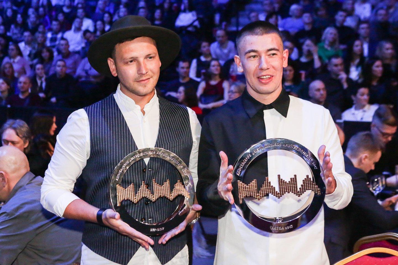"""Hiphopo atlikėjai Lilas (dešinėje) ir Innomine jau trečią sykį šturmuoja didžiausią šalies – Kauno """"Žalgirio"""" – areną.<br>G.Bitvinsko nuotr."""
