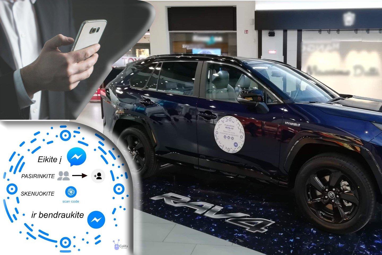 Pasitelkus messenger kodą nebylią automobilių ekspoziciją galima paversti interaktyvia priemone.<br>Organizatorių nuotr.
