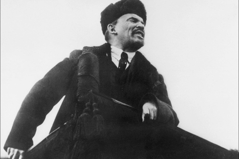 Leninas kalba bolševikų susirinkime 1918 m.<br>Scanpix/AFP nuotr.