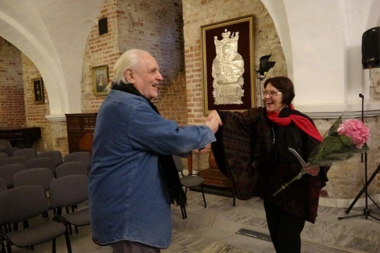 G.Kaukaitė su kompozitoriumi F.Bajoru.<br>A.Rakauko nuotr.