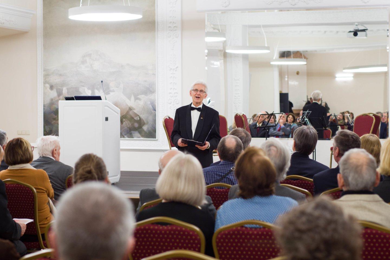 Lietuvos ir Austrijos draugijos prezidentas prof. P.Kunca.<br>P.Olšausko nuotr.