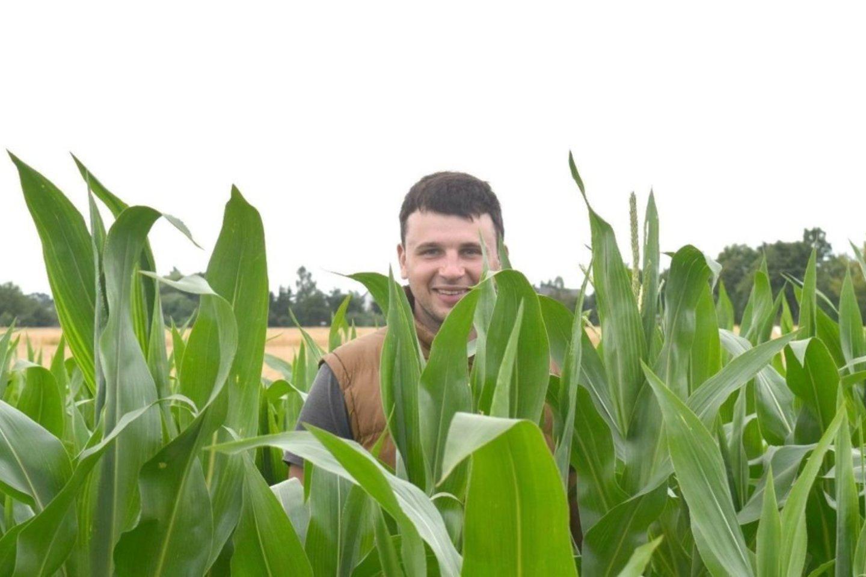 LAMMC Žemdirbystės instituto Augalų mitybos ir agroekologijos skyriaus jaunesnysis mokslo darbuotojas Renaldas Žydelis baigiamajam doktorantūros studijų darbui tyrė, kas lemia kukurūzų derlingumą.<br>Asmeninio archyvo nuotr.