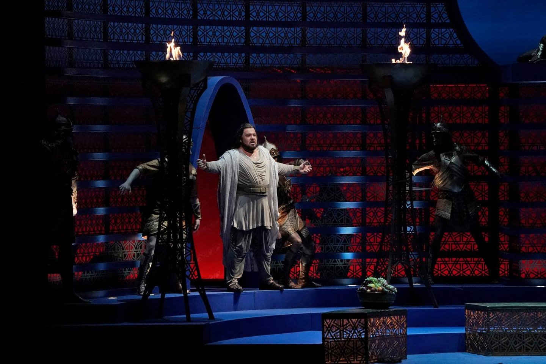 "V.Vyšniauskas - Samsonas""Metropolitan Opera"" scenoje.<br>""Metropolitan Opera"" nuotr."