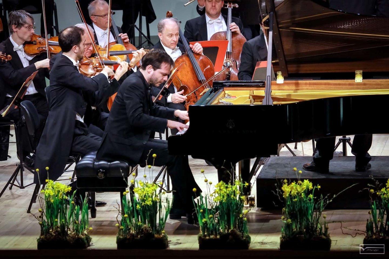 Klaipėdos koncertų salėje F.Piemontessis atliko L.Van Beethovenokoncertą fortepijonui ir orkestrui.<br>KKS nuotr.
