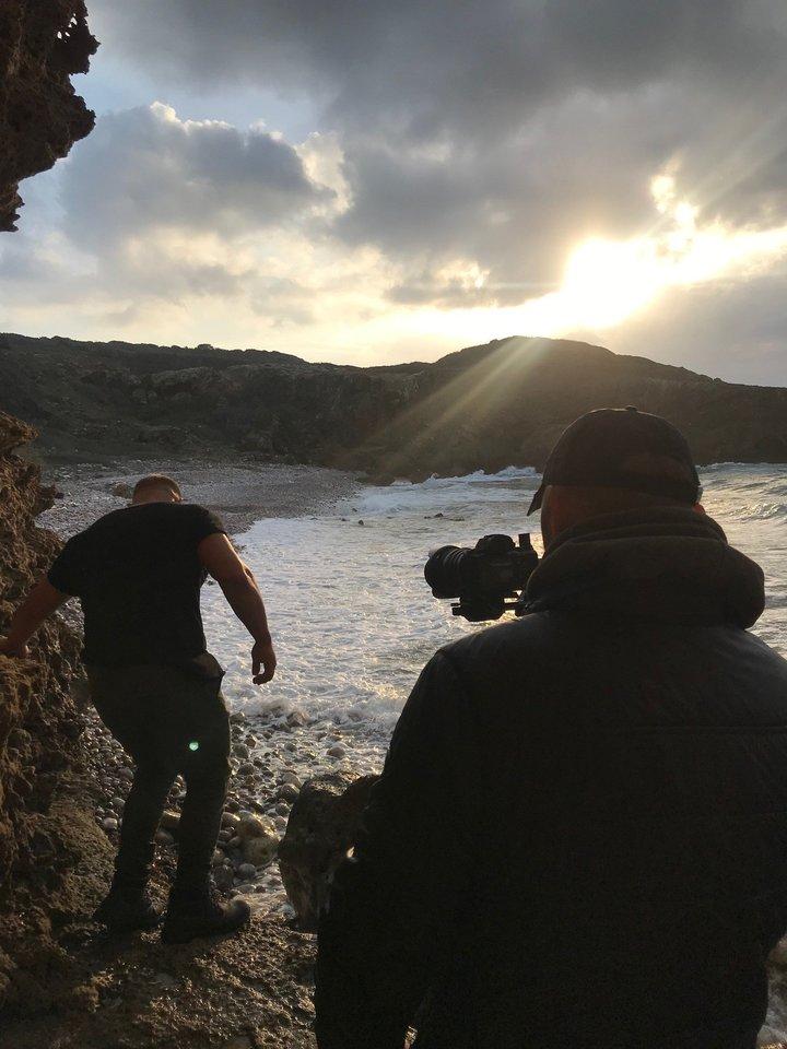 Vaizdo klipo filmavimo akimirkos.<br>Pranešimo siuntėjų nuotr.