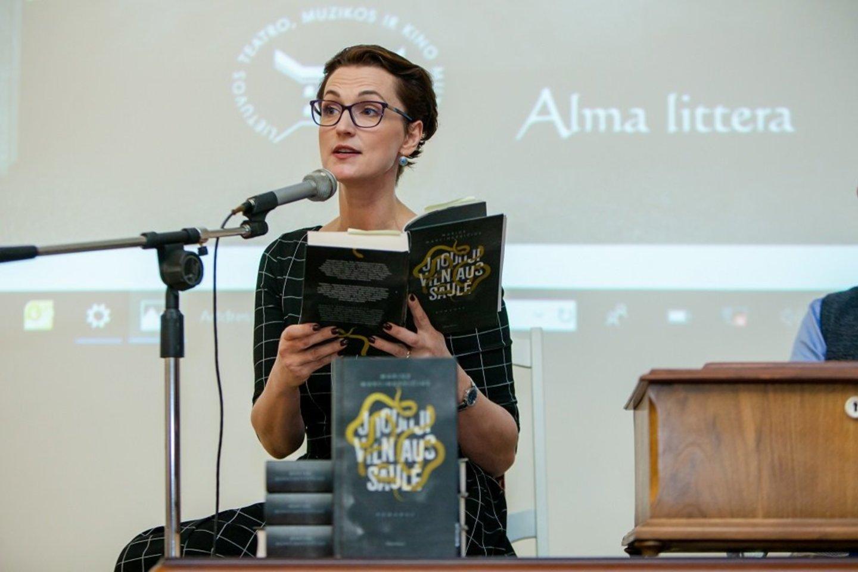 """Mariaus Marcinkevičiaus knygos """"Juodoji Vilniaus saulė"""" pristatymas.<br>Organizatorių nuotr."""