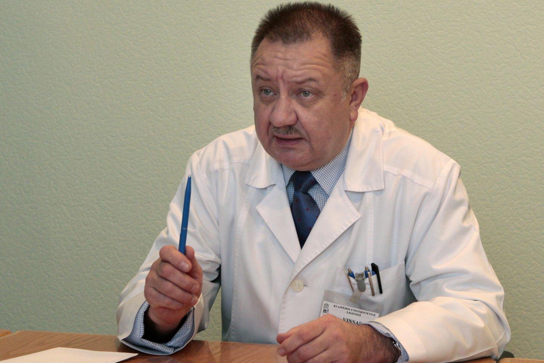 Klaipėdos universitetinės ligoninės vyr.gydytojas Vinsas Janušonis.<br>R.Jurgaičio nuotr.