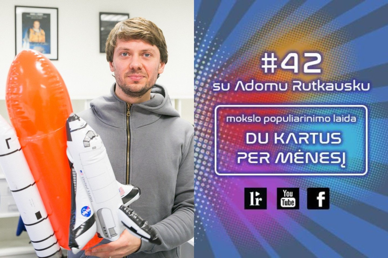 """Antradienį 12 val. tinklalaidėje#42: Apie Gyvenimą, Visatą ir Viską su Adomu Rutkausku"""" antradienį pasakos """"Nanoavionics"""" vadovas Vytenis Buzas.<br>T. Bauro nuotr., Lrytas.lt mont."""