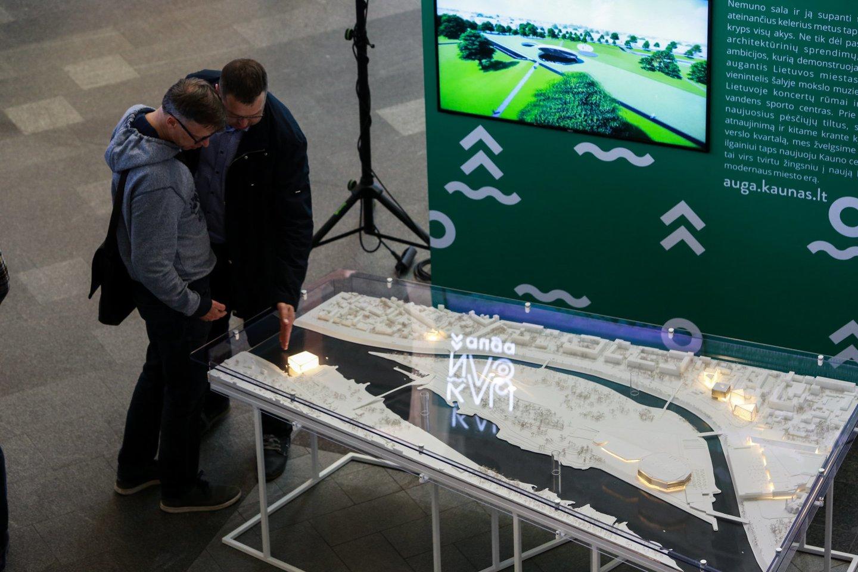 Svarbiausi Kauno projektai matyti naujoje ekspozicijoje.<br>G.Bitvinsko nuotr.