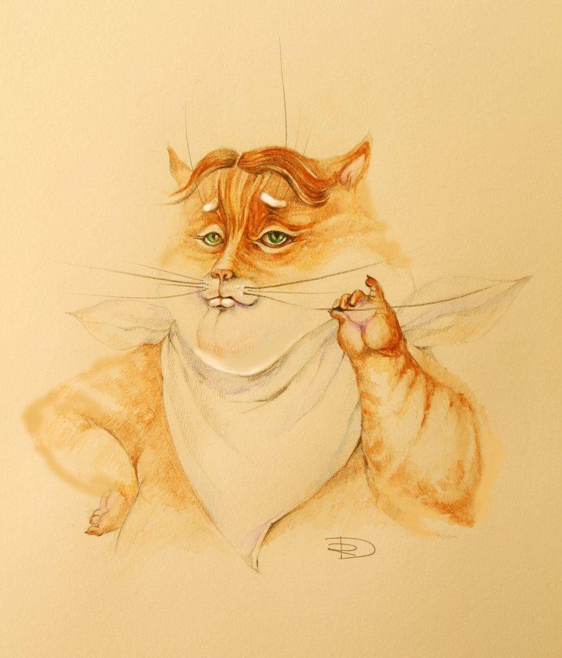 Riebus katinas.
