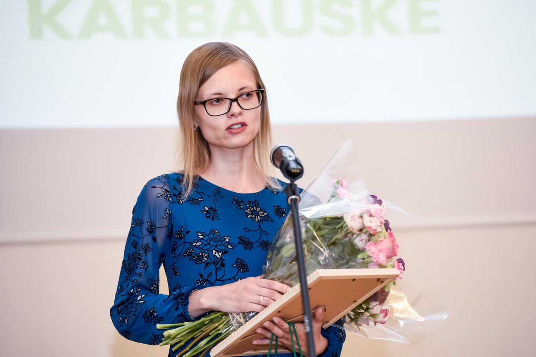 Jurgita Kupšytė-Karbauskė, Klaipėdos Vitės progimnazijos matematikos mokytoja metodininkė.<br>D.Umbraso nuotr.