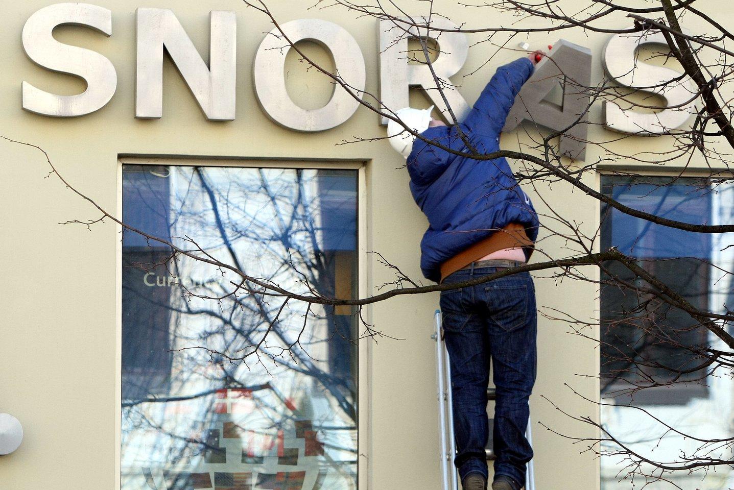 """""""Snoro"""" banko uždarymo istorijos dar ilgai negalėsime išbraukti iš istorijos.<br>R.Danisevičiaus nuotr."""