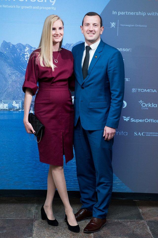 Virginijus Sinkevičius su žmona Kateryna<br>Umbraso nuotr.