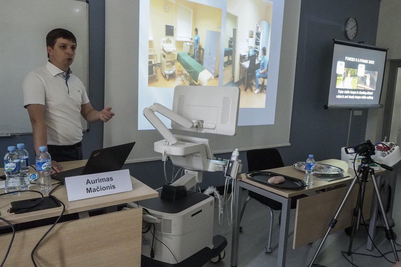"""Vilniuje vykusios tarptautinės konferencijos """"Ultragarsinė diagnostika 2019"""".<br>E.Paukštės nuotr."""