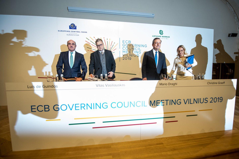 ECB spaudos konferencija Vilniuje.<br>D.Umbraso nuotr.