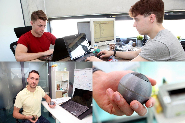 """Jauni inžinieriai sukūrė prietaisą – kamuoliuką """"ViLim Ball"""".<br>Lrytas.lt fotomontažas."""