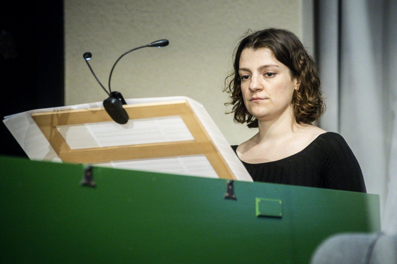 "Ansamblis ""Synaesthesis"" vadovė pianistė M.Finkelštein.<br>D.Matvejevo nuotr."