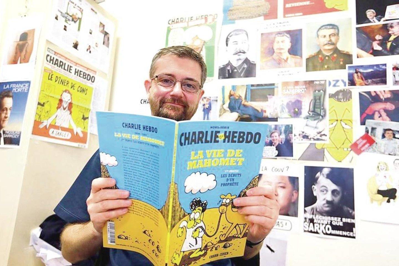 """F.Came pažinojo ir """"Charlie Hebdo"""" redaktorių S.Charbonnier (nuotr.), ir kitus nušautus savaitraščio darbuotojus.<br>""""Reuters""""/""""Scanpix"""" nuotr."""