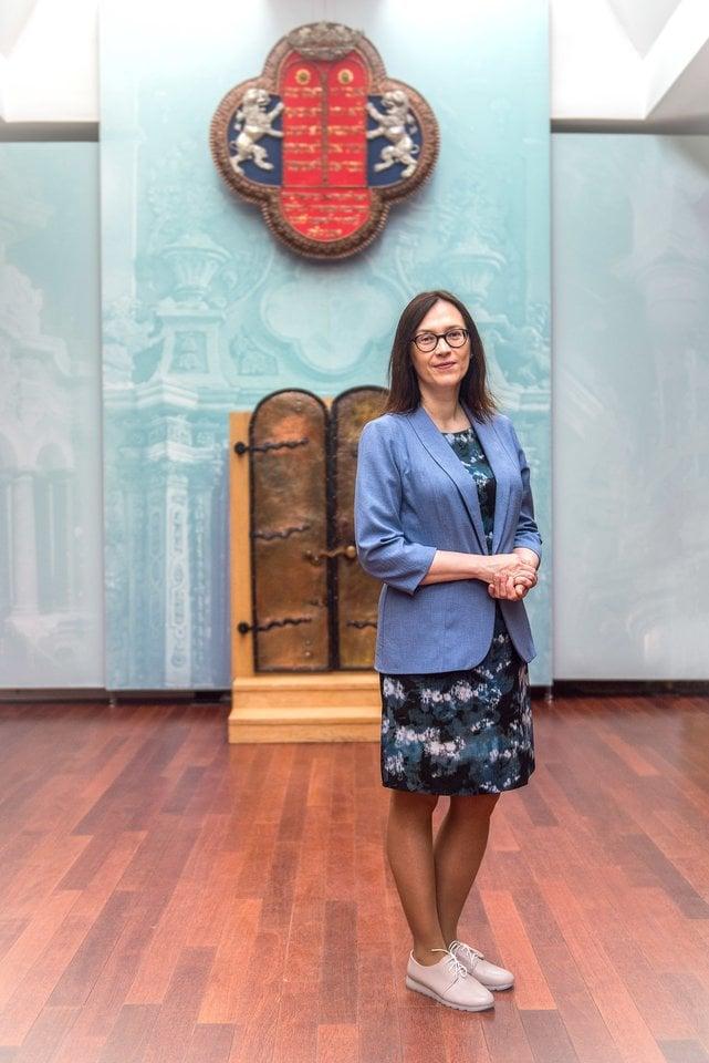 K.RupeikaitėVilniaus Gaono žydų muziejuje.<br>T.Tereko nuotr.