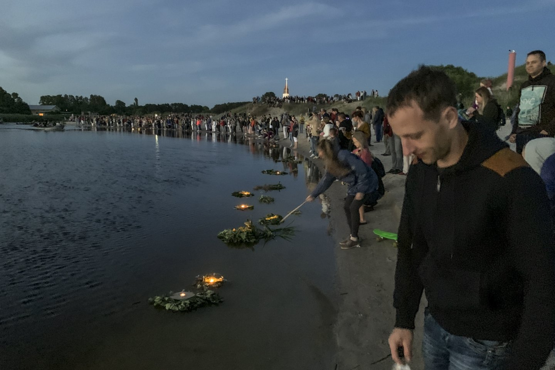 Joninių šventė Šventojoje.<br>V. Ščiavinsko nuotr.