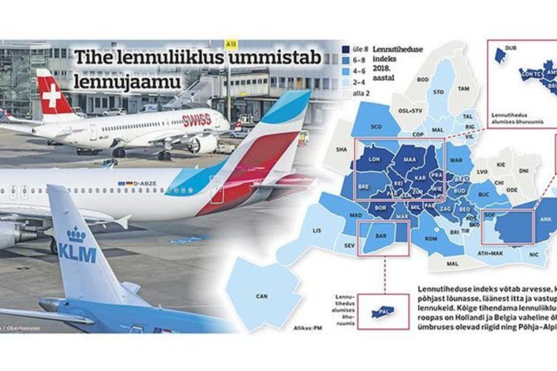 Šią vasarą tikimasi didžiausių eismo spūsčių Europos oro erdvėje ir oro uostuose.