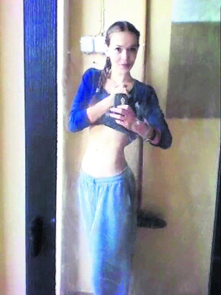Vienu metu K.Pališkytė svėre vos 38 kilogramus.<br>Nuotr. iš asmeninio albumo