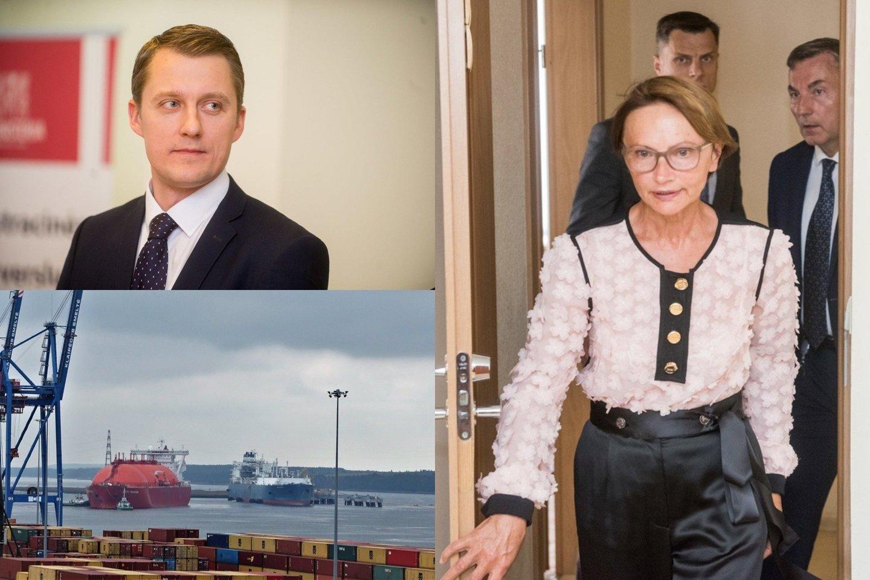 """""""Achemos grupė"""" skeptiškai vertina ministerijos pažadus nuo liepos sumažinti Klaipėdos SGD terminalo išlaikymo kaštus vartotojams.<br>Lrytas.lt fotomontažas"""