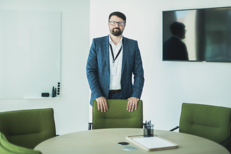 """""""Sorainen"""" Lietuvos biuro vadovaujantis partneris Tomas Kontautas.<br>""""Sorainen"""" nuotr."""