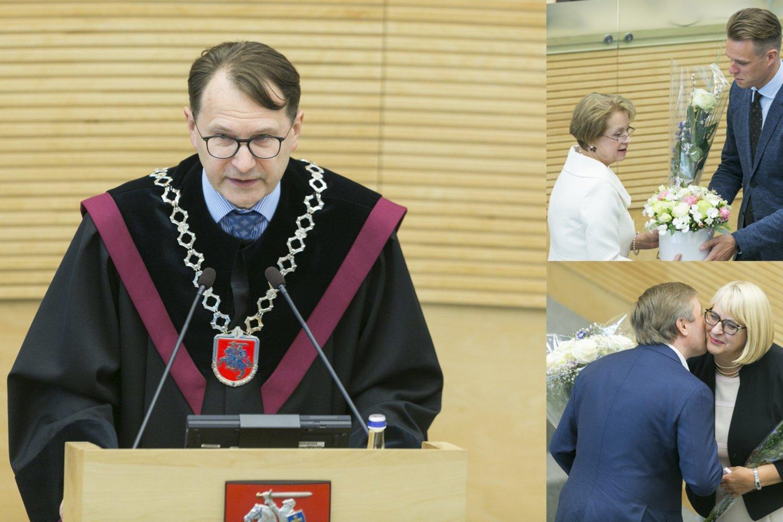Seime prisiekė keturi nauji parlamentarai.<br>Lrytas.lt montažas.