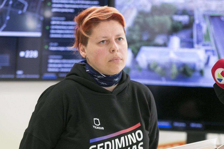 """""""Gedimino legiono"""" savanorė Aistė Kesminaitė-Jankauskienė.<br>T.Bauro nuotr."""